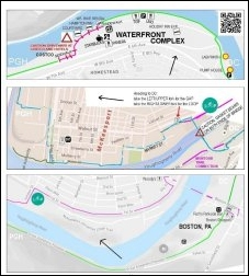 drilldown map for Great Allegheny Passage